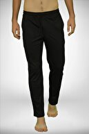 Malabadi Erkek Siyah Bel Lastikli Cepli Tek Alt Düz Paça Pijama 6003
