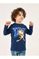 Babycix Tazmanya Canavarı Erkek Çocuk Sweatshirt 2-5 Yaş Lacivert
