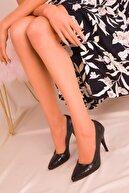 Soho Exclusive Siyah Kroko Kadın Klasik Topuklu Ayakkabı 15731