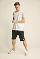 GRIMELANGE RILEY Erkek Beyaz Bol Kesim Kolsuz Atlet