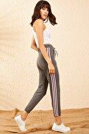 Bianco Lucci Kadın Antrasit Kadın Melanj Jogger İki İplik Beli Lastikli Üç İplik Şeritli Eşofman Altı 10101020