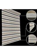 Lucra Concept Zebra Perde 694-5 Etek Dilimli & Boncuklu Kahve Mz694-5eb