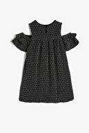 Koton Siyah Desenli Kız Çocuk Elbise