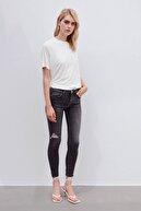 İpekyol Kadın Gri Skinny Fit Jean Pantolon