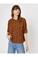 Koton Kadın Kahve T-Shirt