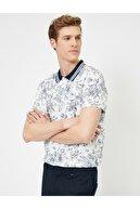 Koton Erkek Beyaz Polo Yaka T-Shirt 0YAM11440GK