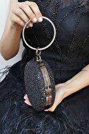 NAZART Pullu Siyah 259 Abiye Clutch Bayan Çantası