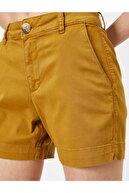 Koton Kadın Sarı Cep Detaylı Şort