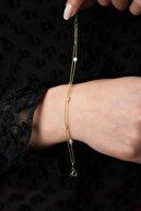 Elika Silver Kadın 2 Sıra Taşlı 925 Ayar Gümüş Bileklik