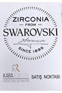 Kara Jewelry Gümüş Kolye Orijinal Swarovskı Taşlı Hilal Temalı Bayan Kolye