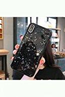 Kılıfsiparis Apple Iphone X - Xs Siyah Simli Silikon Telefon Kılıfı