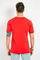 Sateen Men Erkek Kırmızı Baskılı T-Shirt 159-3439 159-3439