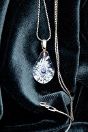 Ninova Silver Kadın El İşçiliği Cam Sanatı Nazarlık Gümüş Kolye NNVSLVR02926