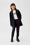 Mango Lacivert Kız Çocuk Yakalı Shift Mont 53045031