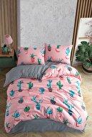 Fushia Cactus Çift Kişilik Kaktüs Desenli Nevresim Takımı