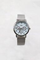 Takıştır Gümüş Renk Kasalı Gümüş Renk Hasır Kordonlu Kadın Saat
