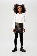 Mango Beyaz Kız Çocuk Parlak Aplikeli Bluz 67070517