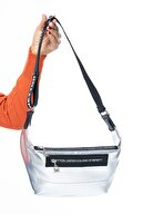 Benetton Gümüş - Siyah Kadın Bel Çantası BNT134