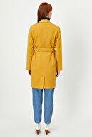 Koton Kadın Sarı Kemer Detayli Kaban 0KAK06142EW
