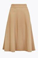 Marks & Spencer Kadın Kahverengi Midi Kloş Etek T59007840