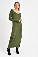 Quincey Triko Elbise  Yeşil EBM2730