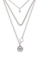 Mavi Kadın Gümüş Rengi Kolye 197312-24651