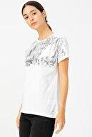 Loft Kadın Baskılı T-shirt LF2023471