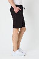 Tarz Cool Erkek Siyah Regular Fit Detaylı Şort & Bermuda-strongsrtr03s