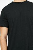 Koton Erkek Siyah Yazili Baskili T-Shirt 0YAM12095LK