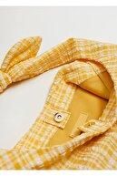 Mango Kadın Sarı Vichy Bucket Çanta