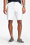 BROOKS BROTHERS Erkek Beyaz Red Fleece Çizgili Oxford Bermuda Şort 1-00099691
