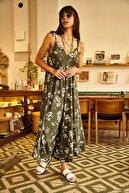 Olalook Kadın Yeşil Askısı Bağlamalı Salaş Kaşkorse Tulum TLM-19000042