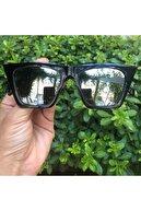Hane14 Kadın Cat Eye Güneş Gözlügü 6293 Designer Köşeli Bayan Aynalı Siyah
