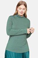 Mango Kadın Su Yeşili Dik Yakalı Tişört 53057678