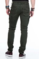 Cipo&Baxx CD424 Kargo Cepli Slim Fit Haki Erkek Pantolon