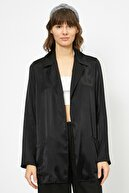 Koton Kadın Cep Detayli Uzun Kollu Saten Ceket