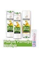 Pantene Güç ve Parlaklık Şampuan 500 ml x 2 + Saç Bakım Kremi 470 ml + Makyaj Pamugu Hediye