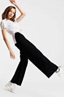 New Now Kadın Siyah Beli Lastikli Piliseli Bol Pantolon 20Y107111