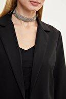 Defacto Kadın Siyah Regular Fit Basic Blazer Ceket N1286AZ.20SP.BK27
