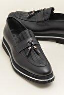 Elle CARTER Hakiki Deri Siyah Erkek Ayakkabı