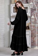 Chiccy Kadın Siyah Bohem Kopanaki Detaylı Salaş Dokuma Elbise  M10160000EL97314