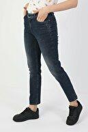 Colin's KADIN 703 Carla Orta Bel Düz Paça Slim Fit Koyu Mavi Kadın Jean Pantolon CL1048923