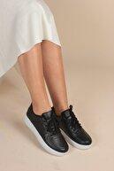 İnan Ayakkabı Unisex Siyah&Beyaz Spor Ayakkabı&Sneaker INA100