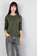 Colin's KADIN Regular Fit Kadın Haki Sweatshirt CL1045063