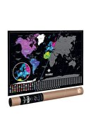 Scratch Map The World Deluxe Scratch Map Kazınabilir Dünya Haritası