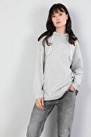 Colin's Comfort Fit Kadın Gri Melanj Sweatshirt