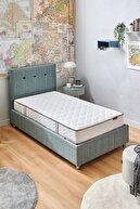 Yataş Nova Sandıklı Yatak Baza Başlık Genç Seti - Multi Yatak - Tek Kişilik - Turkuaz
