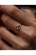 Reis Kuyumculuk Kadın Şubat Düğümü Sarı Altın Yüzük T1297.