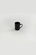 Keramika Mat Siyah Zen Kupa 8 Cm 6 Adet