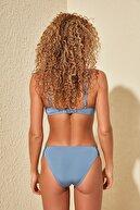 TRENDYOLMİLLA Mavi Yanları Büzgülü Bikini Altı TBESS20BA0366